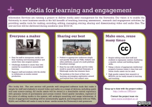 Media for learning and engagement