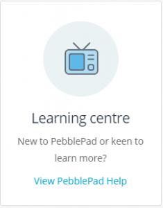 Pebble+v5 Learning Centre
