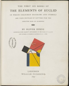 Oliver Byrne. The Elements of Euclid, 1847 (c) University of Edinburgh http://images.is.ed.ac.uk/luna/servlet/s/0524y8