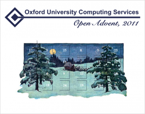 OpenAdvent homepage (2011) CC-BY University of Oxford