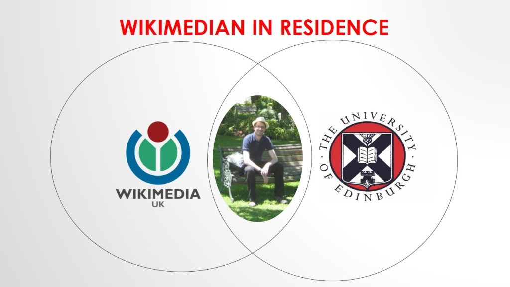 You're so Venn: Where the Wikimedian in Residence sits between Wikimedia UK and the University of Edinburgh.