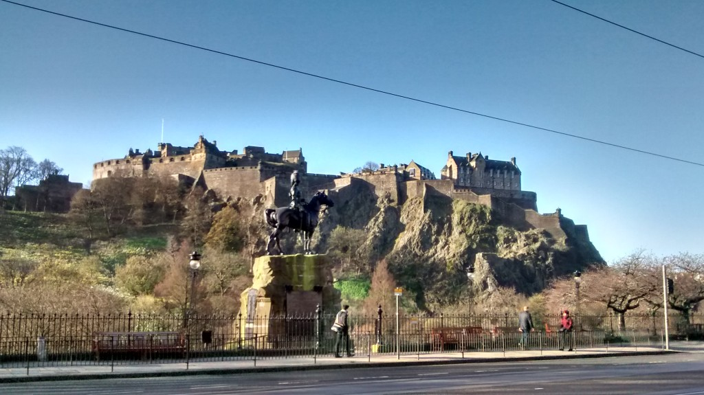 Edinburgh Castle on April 19th 2016