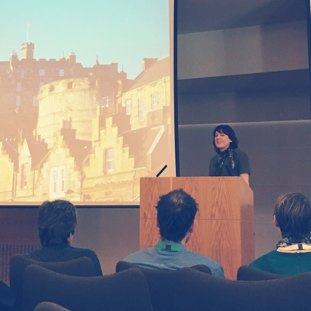Conference co-chair, Melissa Highton, welcomes attendees to Edinburgh at the 7th Open Education Resources conference.
