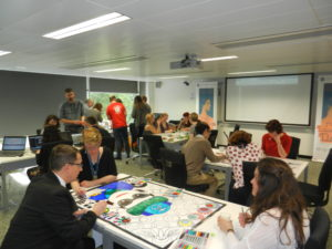 Gamifying Wikimedia - Learning through play (Pic from Ada Lovelace Day 2016 at the University of Edinburgh - own work CC-BY-SA).