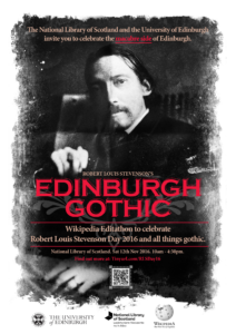 Edinburgh Gothic poster. By Stuart Brett, University of Edinburgh Interactive Team. CC-BY-SA.