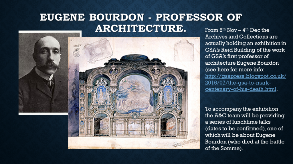 Eugene Bourdon (1st Professor of Architecture at the Glasgow School of Art)