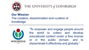 Two similar missions - Wikimedia UK and the University of Edinburgh
