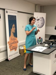 Assistant Principal Melissa Highton welcoming attendees to Ada Lovelace Day 2017