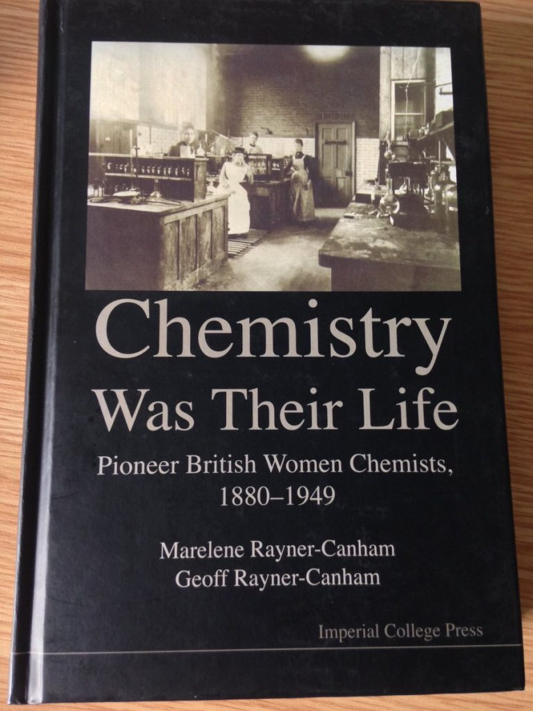 'Chemistry was their life' by Marelene Rayner-Canham and Geoff Rayner-Canham. Pic taken by Michael Seery, CC-BY-SA.