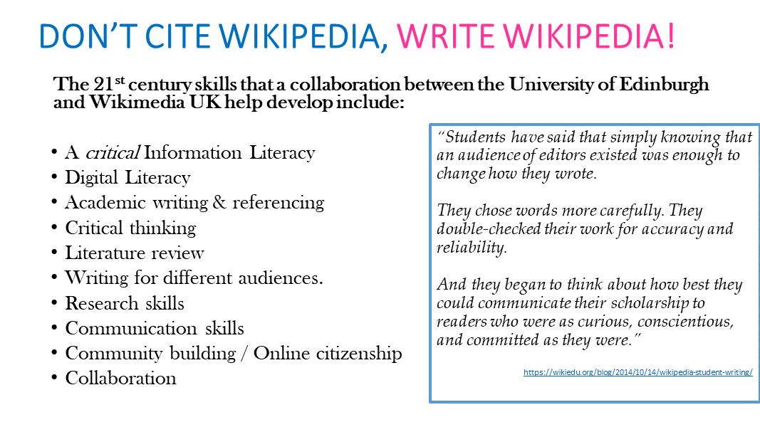 Wikipedia – Wikimedian in Residence